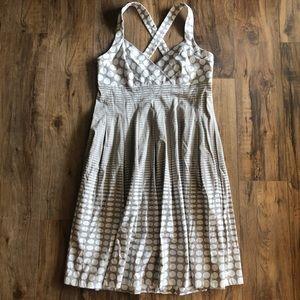 Calvin Klein polka dot fit n flare dress Sz 12